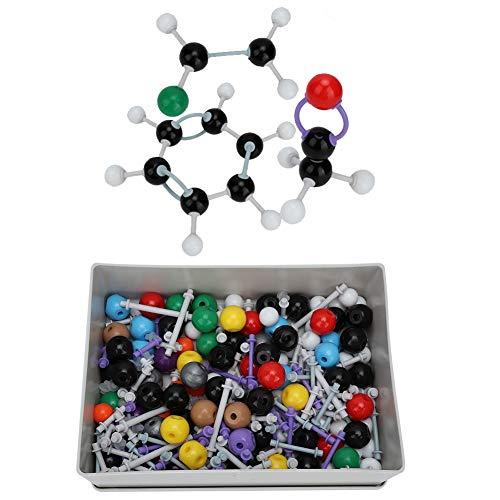 Hztyyier 267Pcs Molecular Chemistry Model Kit Molekülbaukasten Chemie für anorganische und organische Strukturen Atom Link Model Set für Lehramtsstudenten