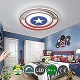 LED Deckenleuchte Captain America Decor Leuchte Mit Fernbedienung dimmbar Moderne Acryllampe...