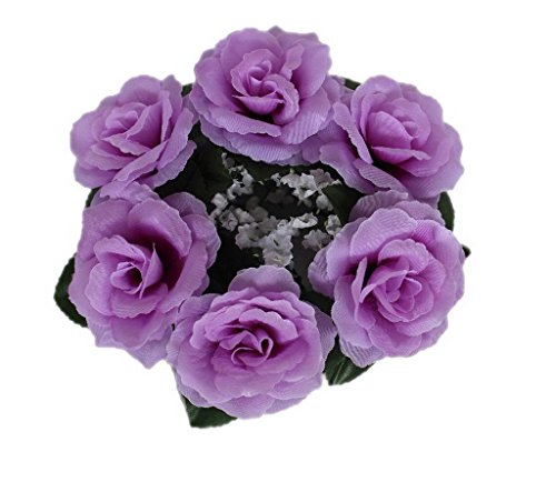 Bigood Couronne Floral Tissu Bouquet Mariage Déguisement Photographe Violet Léger