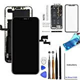 for iPhone X Screen Replacement OLED 5.8 inch [NOT LCD] Touch Screen Display Digitizer Repair Kit Assembly with Complete Repair Tools and Screen Protector