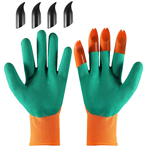 YUWLDD Garden Genie Protective Gloves,Planting Vegetables and Flowers Digging Soil...