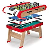 Smoby - 640001 - BabyFoot - Powerplay 4 en 1 - BabyFoot - Ping -Pong - Hockey et...