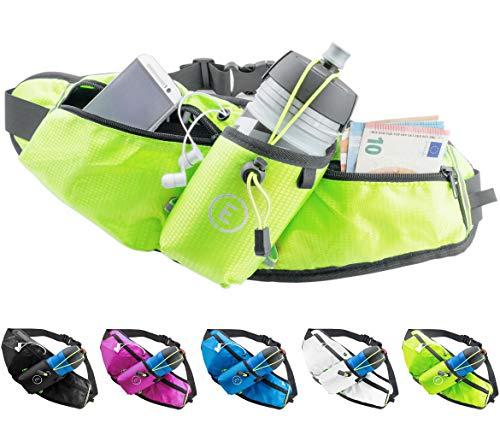 Echelon Line Cintura Porta Borraccia Marsupio Corsa Fitness Sacco da Jogging Borsa di Vita Bottiglia Sacchetto Running Impermeabile - Samsung iPhone Smartphone Telefono Cellulari (Verde)