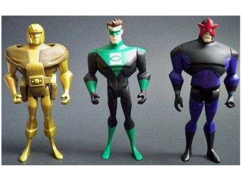 DC Universe Justice League Unlimited Action Figure 3Pack Goldface, Evil Star Kyle Rayner