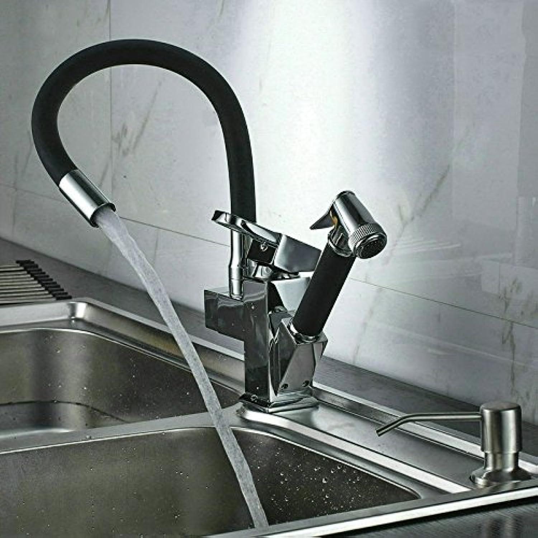 Moderne einfache kupferne heie und kalte Wasserhhne KüchenarmaturKupfer gebürstete Küchenauszieharmatur heie und kalte drehbare Teleskopspüle Universalbeckenarmatur Geeignet für Badezimmerküche