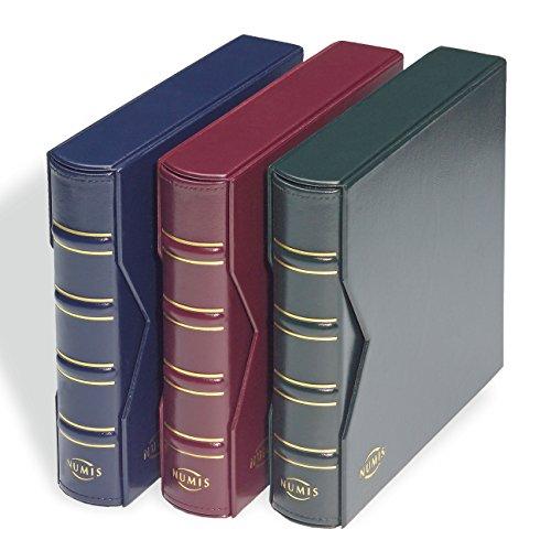 Leuchtturm 327836 Münzalbum NUMIS Classic in rot mit Schutzkassette & 5 Hüllen für versch. große Münzen   Für Münzen mit Ø 44, 34, 25, 17mm   rot