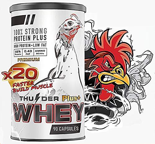 Thunder Faster X3 Formula Health Vitamin Capsules Whey Protein