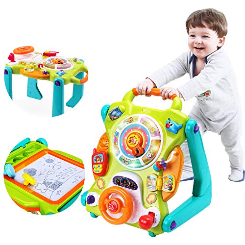 iPlay, iLearn 3 in 1 Baby Sit to Stand Walkers Toys, Kids Activity Center,...