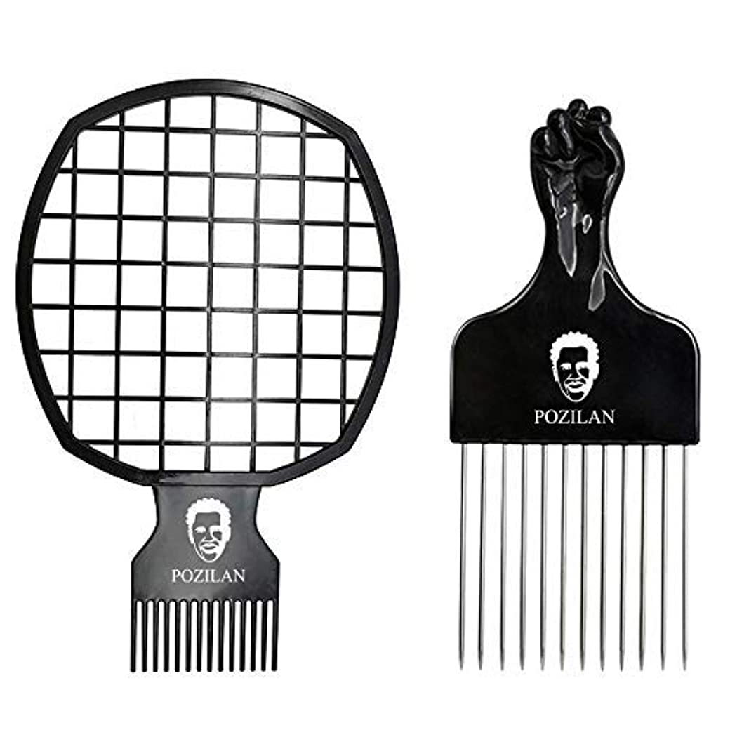 ポップコントローラ助言するMagic Hair Coils Tool, Afro Pick Twist Hair Curl Sponge Brush, Twist Afro Natural Hair Comb (Black) [並行輸入品]