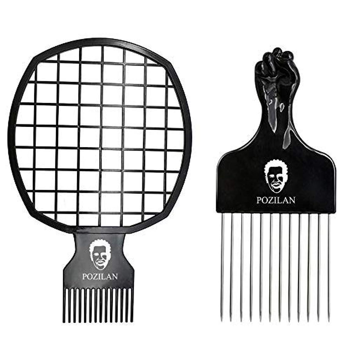 変数経済ほのめかすMagic Hair Coils Tool, Afro Pick Twist Hair Curl Sponge Brush, Twist Afro Natural Hair Comb (Black) [並行輸入品]