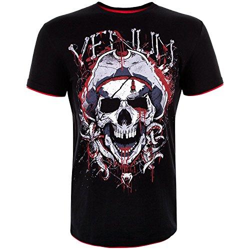 Venum Pirate 3.0 T-Shirt Homme, Noir/Rouge, FR : L (Taille Fabricant : L)