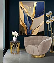 Modern abstract | art wall painting with frame, Print Canvas Poster Decorative Painting Living Room Home Decoration 50 x 3...