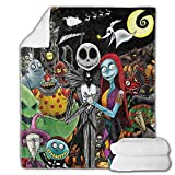 Nightmare Before Christmas Blankets Flannel Throw Blanket Ultra-Soft Micro Lightweight Blanket for Beds, Sofa, Couch, Picnic, Travel, Camping