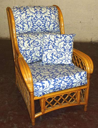 Zippy Carlotti Blue - New Replacement Cushion Covers for Cane Wicker and Rattan Conservatory and Garden Furniture