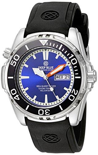 Deep Blue Unisex SQ1KBLU Analog Display Quartz Black Watch
