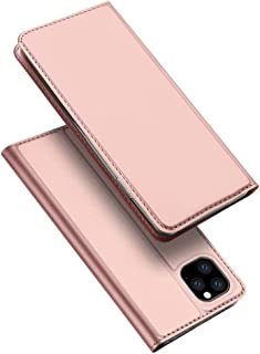 Luxury Magnetic Leather Flip Wallet Case Cover For Iphone 11 Pro Max 6.5inch Iphone 11 Pro Max 6.5inch Magnetic Leather Case Rose Gold