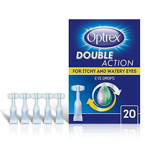 Optrex Eye Drops for Itchy and Watery Eyes Single Daily Use Vials, Pack of 20 x 0.5 ml