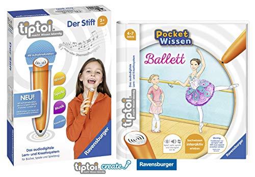 tiptoi Ravensburger Buch 4-7 Jahre | Pocket Wissen - Ballett + Ravensburger 007004 Stift - neu mit Aufnahmefunktion