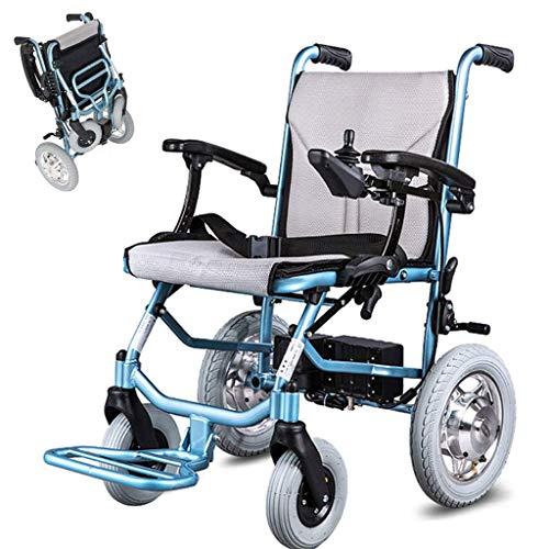 Huiiv Klapprollstuhl, Elektrorollstuhl Leichter Rollstuhl Rollstuhlantrieb mit elektrischer Energie oder zur Verwendung als manueller Rollstuhl Doppelsteuersystem 300W * 2 Motor (Li-Ionen-Akku)
