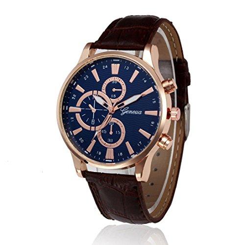 cinnamou Herrenuhren I Herren Uhren I Retro Design I Analoge Legierung Quarz-Armbanduhr I Herrenuhr Armbanduhr Armband I Schlicht, elegant und sportlich (Braun)