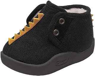 👏 Happylove 👏 Baby Girls Boys Fleece Booties - Cartoon Cotton Lining Soft Suede Infant Boots Non-Slip Walker Shoes Winter