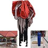 Zixin Cenadores Heavy Duty Canopy - 3x3m for Cualquier estación Impermeable surgen el Gazebo - Frame, Asegurar Clavijas de Almacenamiento Bolsa - Rojo