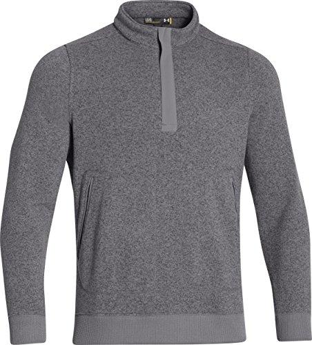 Under Armour Men's Elevate Quarter Zip Sweater, Graphite, L