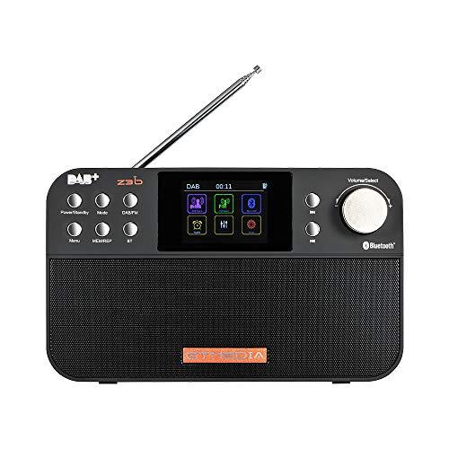 GTMEDIA Z3B Dab +   FM RDS Radio Digital, Radio Recargable portátil actualizable, Compatible con Reloj Alarma Temporizador de Apagado, Bluetooth y FM RDS visualización de Nombre de estación