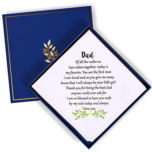 Wedding Handkerchief for Bride's Father Dad Wedding Gift from Daughter...