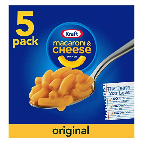 Kraft Macaroni & Cheese, Original, 5-pack, 36.25 oz