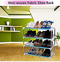 Generic Style 2 : Modern Living Room Furniture Portable Shoe Racks Folding Multilayer Non Woven Fabric Combination Dustproof Stainless Shoes Shelf
