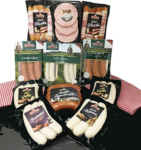 Barbecue Party Grillpaket Winter mit Weihnachtsbratwurst Weiße Wiener Würstchen Käsegriller...