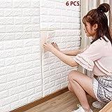 BOGUANG 6 pezzi 77 * 70cm 3D Carta da Parati Mattoni Autoadesiva Wallpaper Brick Adesivi Murali Muro
