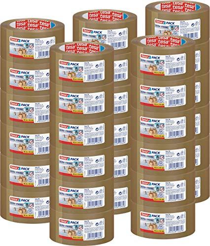 30 Rollen tesa Ultra Strong Packband (aus PVC mit besonders starker Klebekraft, 66 m x 50 mm, 3er Pack) braun