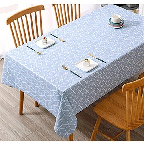 Mantel De PVC Impermeable Y A Prueba De Aceite Mantel De Mesa De Centro De Impresión De Tela A Cuadros Fresca Y Simple 140x200cm(WxH) G