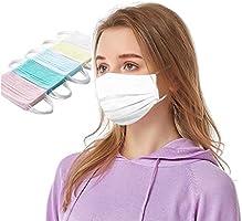50 Stück Einmal-Mundschutz, Staubs-chutz Atmungsaktive Drucken Mundbedeckung, Erwachsene, Bandana Face-Mouth Cover...
