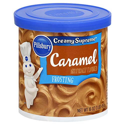 Pillsbury Creamy Supreme Caramel Flavored Frosting, 16-Ounce (Pack of 8)