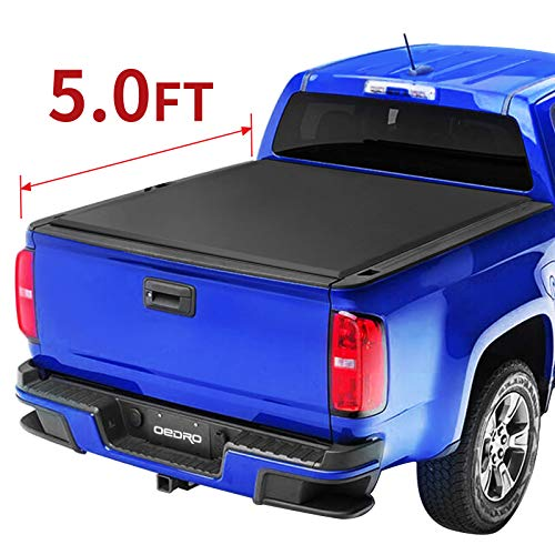 oEdRo Roll Up Truck Bed Tonneau Cover Compatible with 2015-2021 Chevy Colorado & GMC Canyon with 5 Feet Bed, Fleetside
