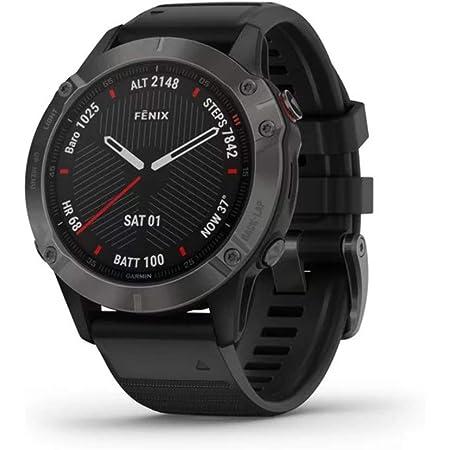 Orologio Garmin Fenix 6 Sapphire Smartwatch Silicone Nero GPS 47mm 010-02158-11