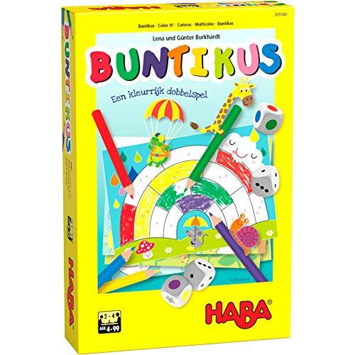 HABA Juego de mesa Buntikus junior de papel y madera, 18 piezas (NL)
