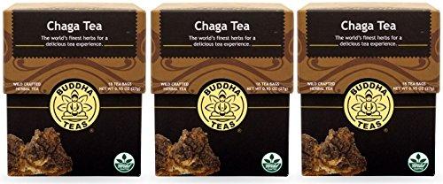 Chaga Tea - Organic Herbs (3 Packages(54 Tea Bags Total))