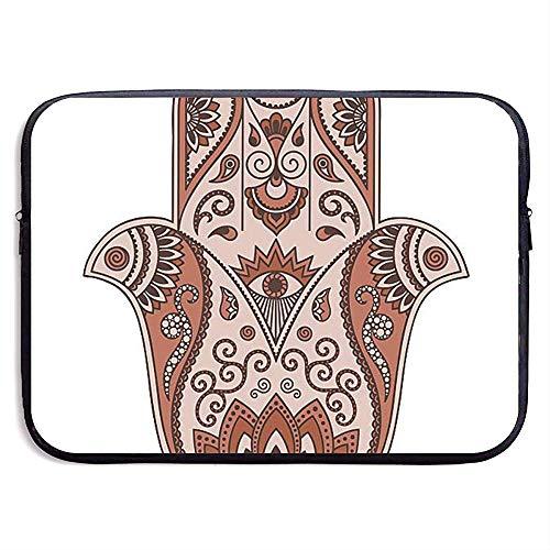 Laptop Sleeve Case Hamsa Stencil Notebook Bag Laptop Shoulder Bag Protective 15 Inch