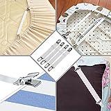WADEO Bettlakenspanner Mit Metallclips Verstellbar Betttuchspanner Elastische Spannbettlakenhalter Für Bettlaken Matratze 8 Stück - 5