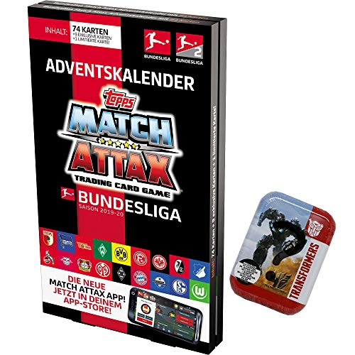 CAGO Topps Match Attax 2019/2020 - Adventskalender + 1 Transformer Tin