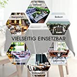 Tischdecke Abwaschbar Outdoor Gartentisch Terrasse Tischdecken Leinen Optik Wachstischdecke Wachstuch Größen Auswählbar Wasserabweisend Lotuseffekt Abwischbare Modern Dekoration 140x240 cm Dunkelgrau - 4