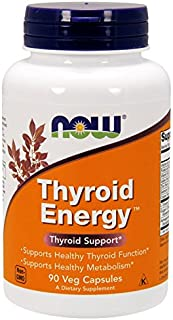 Now Foods Thyroid Energy - Energía tiroidea. sin gluten y soya. 90 cápsulas vegetales