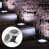Fandazzie Solar 16-LEDs Untergrundleuchten Wasserdichte Rasenleuchten Gartendekoration Spiegellampen