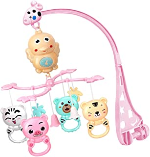 Perfeclan Baby Remote Control Musical Crib Mobile with Hanging Rotating Toys, Built-in 960 Melodies, Toy for Newborn 0-24 Months - Red, 39.5x16.6x9cm