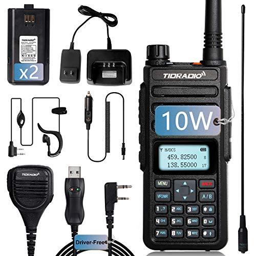 TIDRADIO TD-H6 Upgraded UV-5R High Power Ham Radio Handheld Dual Band Two Way Radios with Driver Free Programming Cable