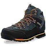 YUHAI Botas de Senderismo de Cuero para Hombres, Zapatos para Caminar Resistentes al Alto al Desgaste, Zapatos Antideslizantes al Aire Libre al Aire Libre Transpirable Impermeable,Yellow-46(UK11.5)